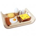 ของเล่นไม้ ของเล่นเด็ก ของเล่นเสริมพัฒนาการ Breakfast Menu ชุดอาหารเช้าสำหรับเด็ก 3 ปี [ส่งฟรี]
