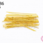 ตะปูตัวTหรือเฮดพิน สีทอง (A) #40มิล (5กรัม)