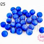 ลูกปัดแก้ว ตาแมว สีน้ำเงินเข้ม 8มิล (1ขีด/100กรัม)