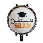 ลูกโป่งฟลอย์แสดงความยินดี Congrats Grad ทรงกลม - Grad Key oil Balloon / Item No. TL-F016