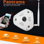 VR CAM กล้องวงจรปิดไร้สาย 360 3D Panoramic WiFi 1.3mp Lens 360°(สีขาว) รองรับ Android และ iOS