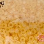 ลูกปัด Miyuki 15/0 สีเหลืองด้าน รหัส 132F