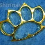 สนับมือ ชุบทอง ขนาดใหญ่ 4 1/4 x 3 1/4 นิ้ว