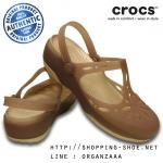 W7 (24 cm.) : Crocs Carlie Cut Out Clog - Bronze / Gold ของแท้ Outlet ไทยและอเมริกา