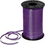 ริบบิ้นม้วนใหญ่ สีม่วงเข้ม สำหรับผูกลูกโป่ง ยาว 350 เมตร - Dark Purple Curling Ribbon