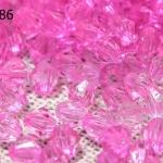 คริสตัลพลาสติก สีชมพู 4มิล (1ขีด/100กรัม)