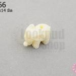 อะคลีลิค รูปช้าง สีขาว 11x14มิล (1ชิ้น)
