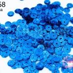เลื่อมกลม สีฟ้าเข้มดิสโก้ 7มิล (5กรัม)