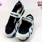 รองเท้าผ้าใบ CSB (ซีเอสบี) สีดำ/ขาว รุ่นT2155 เบอร์36-41