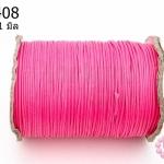เชือกค๊อตต้อนเคลือบ สีชมพู 1.0มิล (1ม้วน/100หลา)