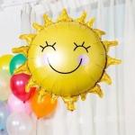 """ลูกโป่งฟลอย์รูปหน้ายิ้มพระอาทิตย์ 26""""- Smiley Sun 26""""Shape Balloon / Item No. TL-A100"""