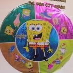 ลูกโป่งฟลอย์ ทรงกลมลายการ์ตูน Bob Sponge (แพ็ค10ใบ) / Item No.TL-A054