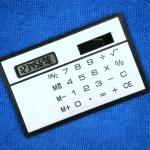 เครื่องคิดเลข 8 หลักแบบพกพา ขนาดเล็กเท่านามบัตร
