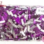 เพชรแต่ง สี่เหลี่ยมยาว สีม่วง มีรู 7X19มิล(1ถุง/1,440ชิ้น)