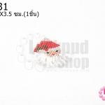 ตัวแต่งลูกปัดมิยูกิ รูปซานต้าคลอส ห่วงสีเงิน 3.5X3.5 ซม. (1ชิ้น)