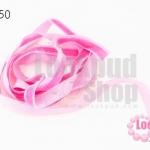 เชือกผ้า ริบบิ้นกำมะยี่ สีชมพู (1เส้น/1หลา)