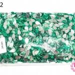 เพชรแต่ง หยดน้ำ สีเขียว มีรู 8X13มิล(1ถุง/2,880ชิ้น)