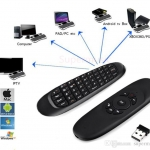 Air Mouse C120 เป็นตัวควบคุมระยะไกลด้วยมัลติฟังก์ชั่นเป็นทั้งแอร์เมาส์และคีย์บอร์ด ควบคุมระบบมัลติมีเดียทั้งกล่อง Android และ คอมพิวเตอร์