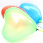 ลูกโป่งหัวใจเนื้อมุก สีเขียวอ่อน ไซส์ 12 นิ้ว แพ็คละ 10 ใบ (Heart Shape Balloon-Pearl Light Green Color)