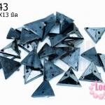 เพชรสอยสีรมดำ สามเหลี่ยม2รู 11X13มิล (1ขีด/100กรัม)