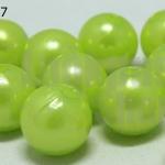 ลูกปัดมุก พลาสติก สีเขียวมะนาว 10 มิล (1ขีด/100กรัม)