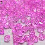 คริสตัลพลาสติก สีชมพู 6มิล (1ขีด/100กรัม)