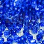 คริสตัลพลาสติก สีน้ำเงิน 4มิล (1ขีด/100กรัม)