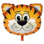 ลูกโป่งฟลอย์ หน้าเสือ - Tiger Face Foil Balloon / Item No. TL-B049