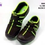 รองเท้าผ้าใบ BIMSIN (บินซิน) สีน้ำตาล/เขียว รุ่นBNS507 เบอร์36-41