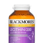 Blackmores Lecithin 1200 mg. 100 แคปซูล บำรุงสมอง ลดโคเลสเตอรอลในเส้นเลือด