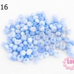 ลูกปัดแก้ว ตาแมว สีน้ำเงินอ่อน 5มิล (1ขีด/100กรัม)