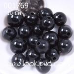 ลูกปัดมุก พลาสติก สีดำ 10 มิล (1ขีด/100กรัม)