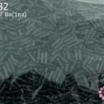 ลูกปัดจีน ปล้องยาว สีดำ 2X7มิล (1ถุง/450กรัม)
