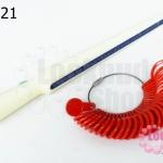 ทีวัดแหวนพร้อมห่วงแหวน สีแดง (1ชุด)