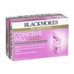 วิตามินเตรียมตั้งครรภ์ Blackmores Conceive Well Gold (28 เม็ด+28 ซอฟต์เจล)