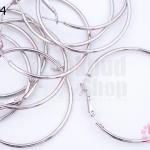 โครงต่างหู กลม สีโรเดียม 45มิล (5คู่)