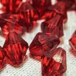 คริสตัลพลาสติก สีแดง 10มิล (274เม็ด)