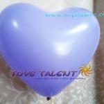"""ลูกโป่งหัวใจ สีม่วง ไซส์ 11 นิ้ว แพ็คละ 10 ใบ (Heart Latex Balloon - Purple Color 11"""")"""