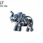 จี้รูปช้างสีรมดำ 31X41 มิล (1ชิ้น)