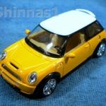 Model Car Austin Mini Cooper S สีเหลือง-ขาว