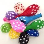 """ลูกโป่งกลมพิมพ์ลายจุด Polka Dot ไซส์ 12 นิ้ว คละสี แพ็คละ 100 ใบ (Round Balloons 12"""" - Polka Dot Printing latex balloons)"""