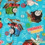 ผ้าคอตตอนญี่ปุ่น ลาย โทมัส ( Thomas & Friends)เนื้อหนาค่ะ เหมาะสำหรับงานผ้าทุกชนิด