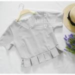 พร้อมส่งค่ะ เสื้อครอป สีเทา คอวี เอวพลีท เข้ารูป แบบสวยน่ารักๆ เสื้อสีพื้น ใส่ง่าย ใส่สบาย เนื้อผ้าฮานาโกะคุณภาพดี