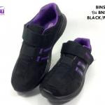 รองเท้าผ้าใบ BIMSIN (บินซิน) สีดำ-ม่วง รุ่นBNS539 เบอร์36-41