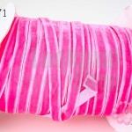 เชือกผ้า ริบบิ้นกำมะยี่ สีชมพู (1ม้วน/50หลา)