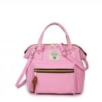 กระเป๋าถือและสะพายข้างผู้หญิง รหัส SUIF0219PK สีชมพู มีซิปหน้ากระเป๋า เก๋ค่ะ