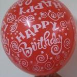 """ลูกโป่งกลมพิมพ์ลาย Happy Birth Day คละสี แบบที่ 1 ไซส์ 12 นิ้ว จำนวน 10 ใบ (Round Balloons 12"""" - Happy Birth Day Design no. 1 latex balloons)"""