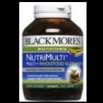 Blackmores NutriMulti Wholefood Nutrients แบลคมอร์ส นิวทริ มัลติ ผลิตภัณฑ์เสริมอาหารที่่มี วิตามิน แร่ธาตุ และสารสกัดจากธรรมชาติรวม 25 ชนิด เม็ดยา 2 ชั้น ชั้นแรกวิตามินเกลือแร่รวมและ antioxidant เพื่อสุขภาพดียิ่งขึ้น ชั้นต่อไป wholefood จากผักผลไม้สด ให้