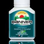 Banner Chlrophyll and Glutathione แบนเนอร์ คลอโรฟิลล์ กลูต้าไธโอน Detox ล้างสารพิษ 30 แคปซูล