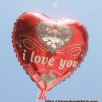 ลูกโป่งฟลอย์รูปหัวใจ พิมพ์ลาย I LOVE YOU ไซส์ 18 นิ้ว - I Love You Heart Shape Foil Balloon / Item No. TL-E029